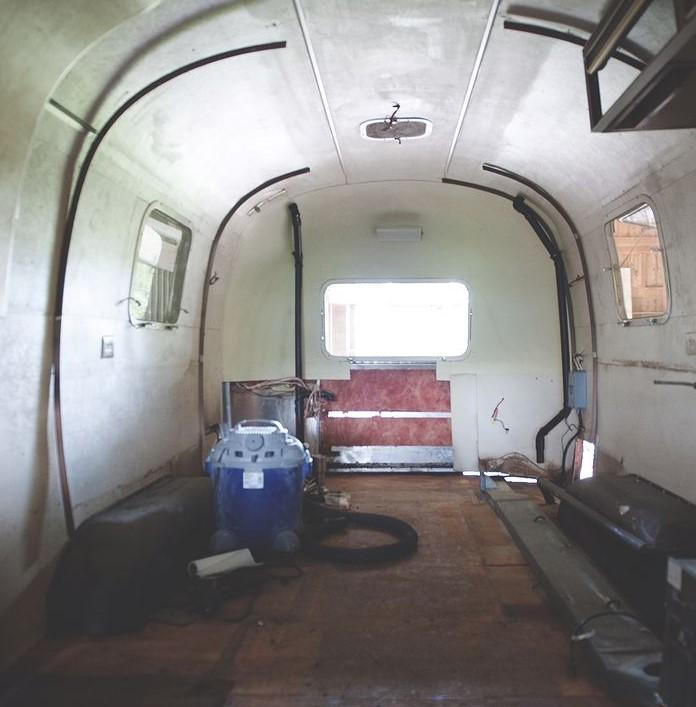 1971 airstream interior gutted