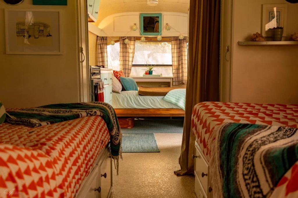 1972 vintage camper interior