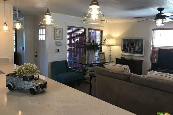 Double wide remode with farmhouse style tv room