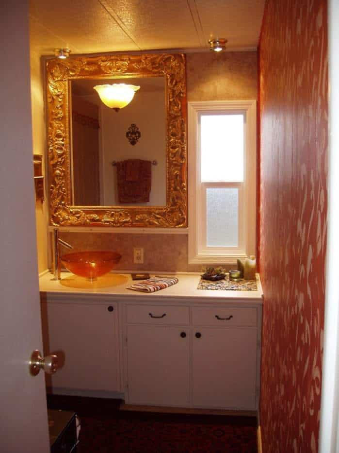 1978 mobile home remodel bathroom after