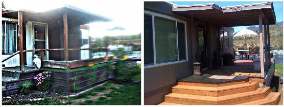 1978 mobile home remodel before and after front steps