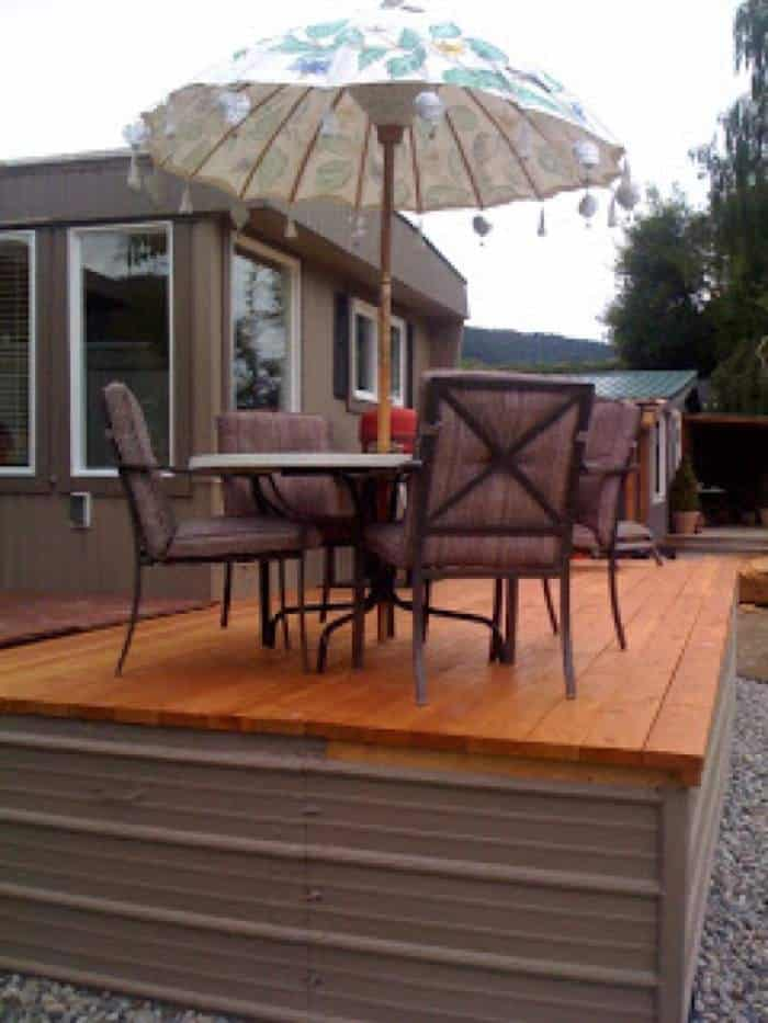 1978 mobile home remodel decking after