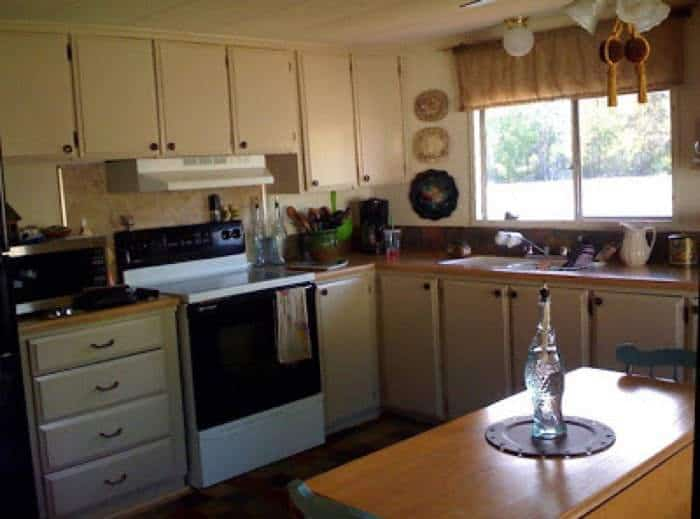 1978 mobile home remodel kitchen after
