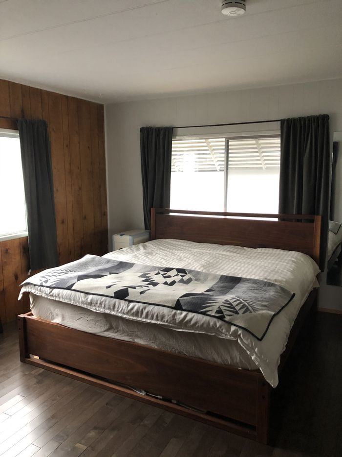 Mobile home bedroom
