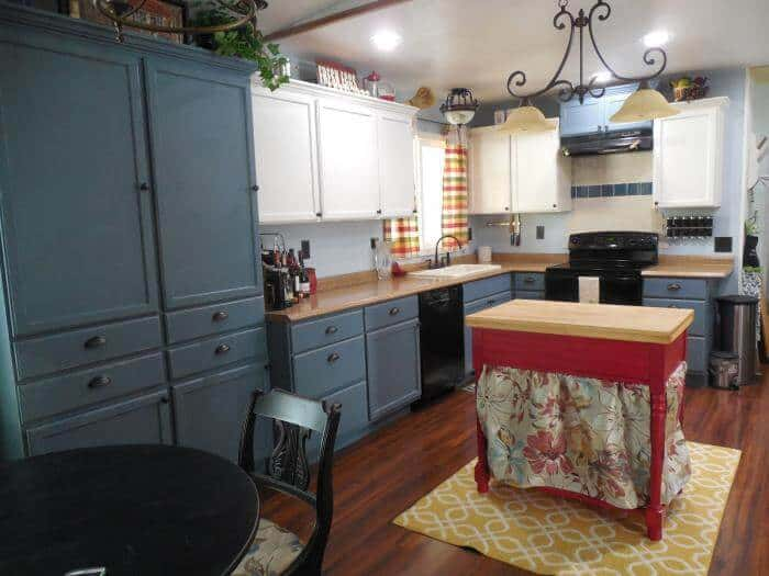 1979 mobile home kitchen makeover - finished