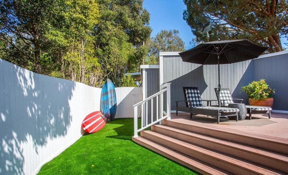 Remodeled double wide back deck