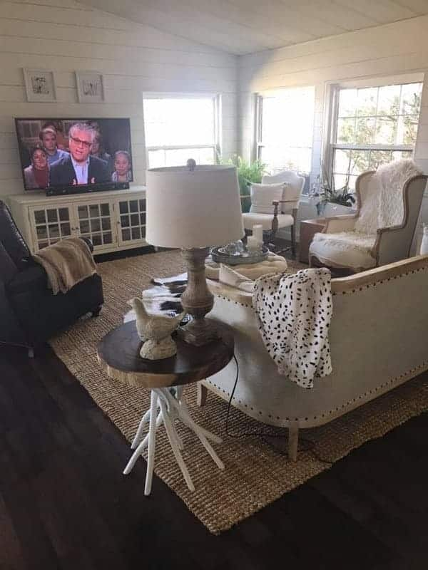 1984 double wide manufactured home remodel - living room