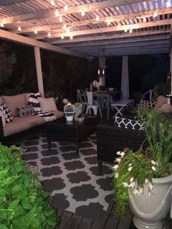 1984 double wide manufactured home remodel - outdoor living space