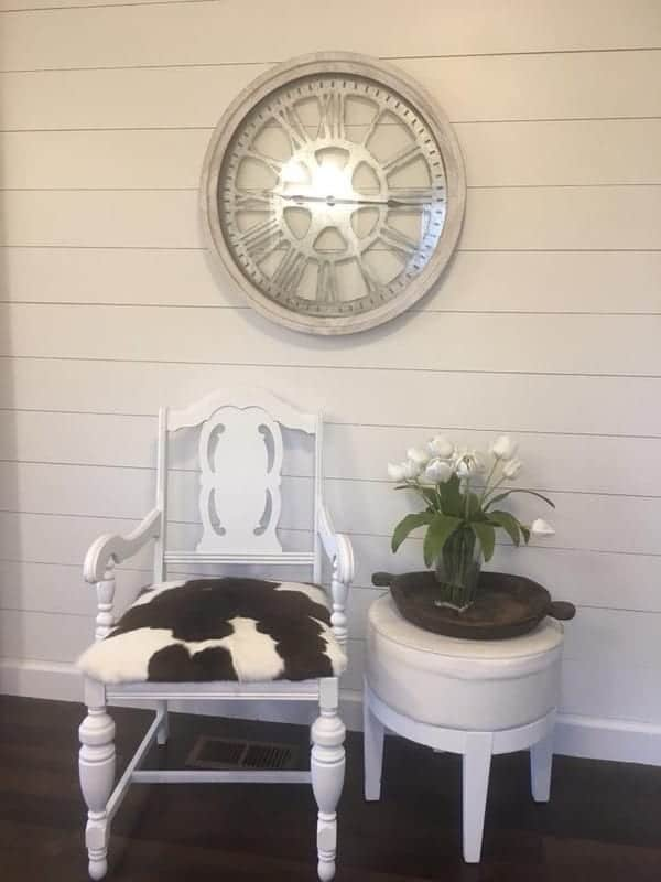 1984 double wide manufactured home remodel - sitting area 2