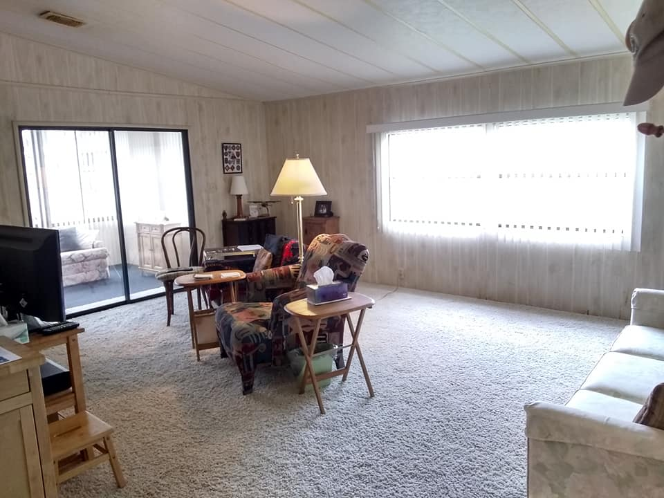 Mobile home living room