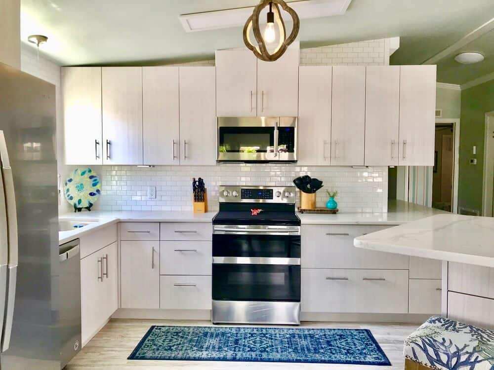 1988 Fuqua Double Wide Manufactured Home Remode Kitchen After