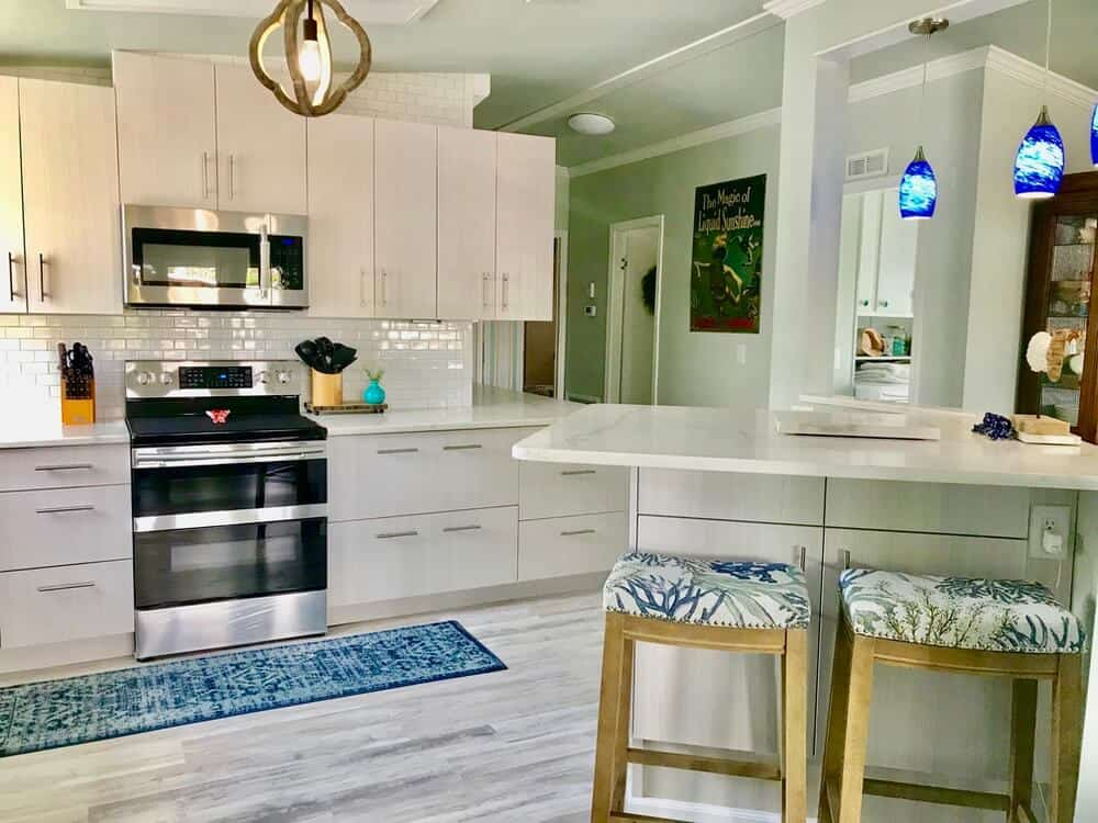 1988 Fuqua Double Wide Manufactured Home Remodel Kitchen After