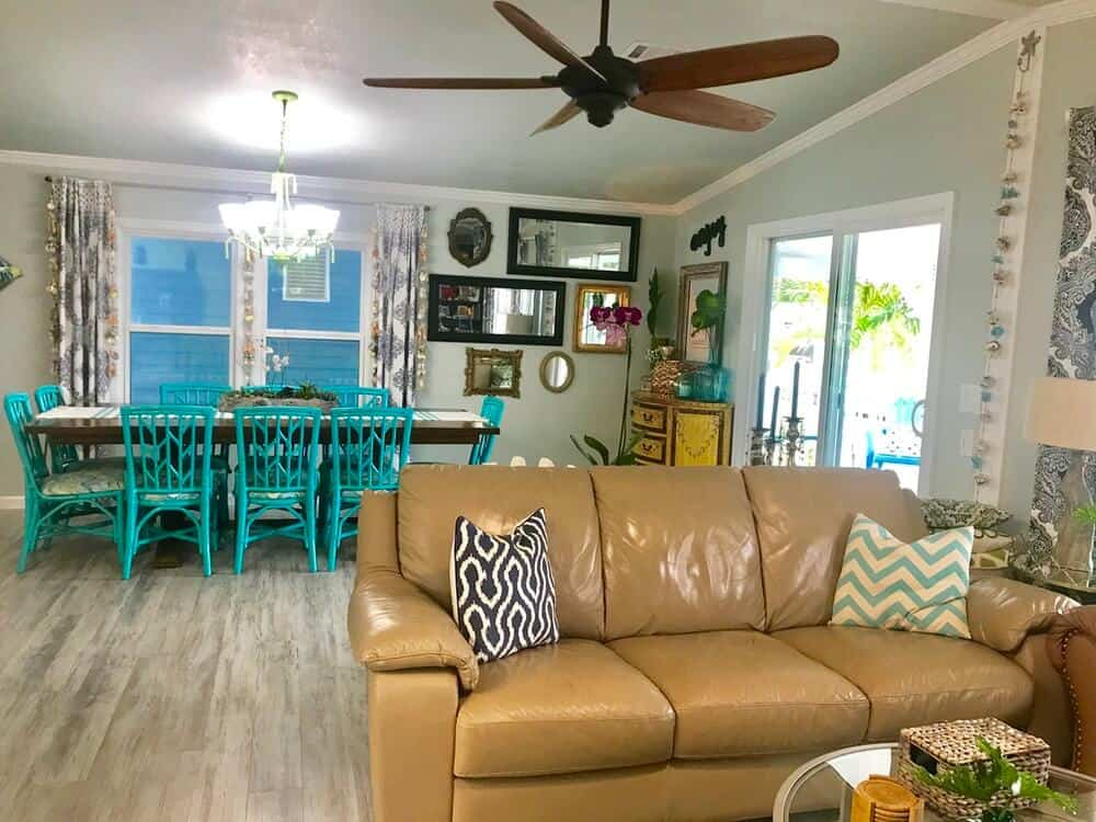 1988 Fuqua Double Wide Manufactured Home Remodel Living Room