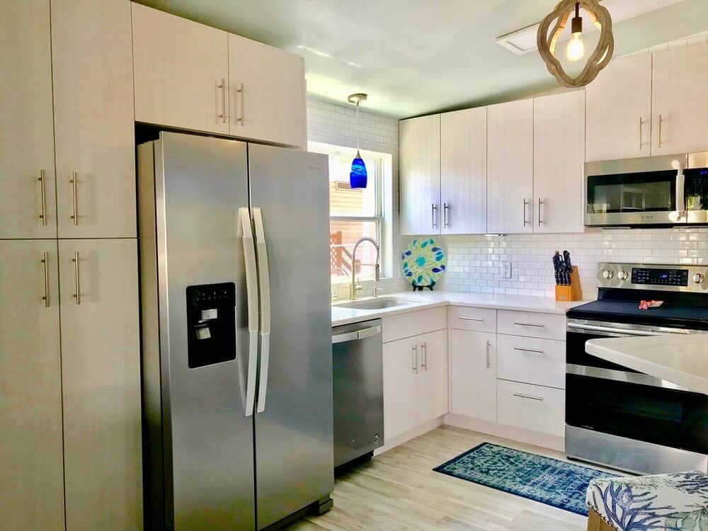 1988 fuqua double wide manufactured home remodeled kitchen