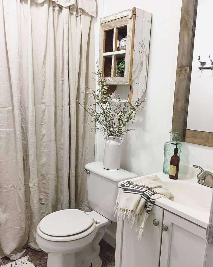 1997 clayton double wide farmhouse makeover farmhouse bathroom