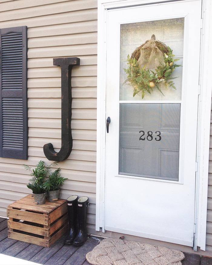 Clayton Double Wide Gets Farmhouse Makeover Front Doorh