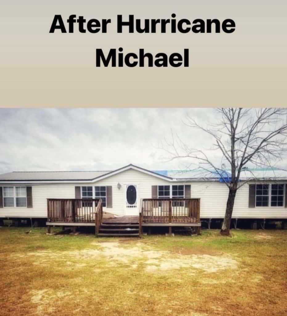 Buccaneer double wide remodel after hurricane michael
