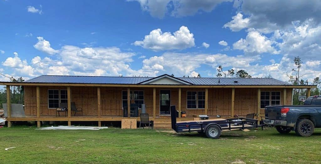 Buccaneer double wide remodel exterior remodel of manufactured home