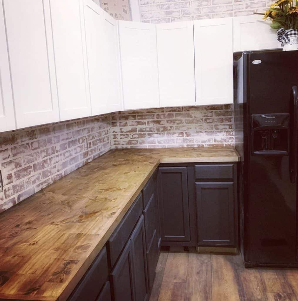 Buccaneer double wide remodel kitchen after new cabinets and walls