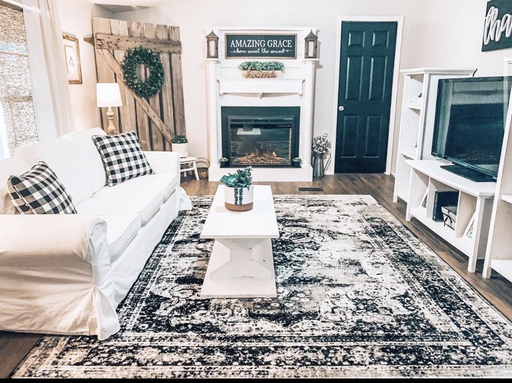 Buccaneer double wide remodel living room after remodel