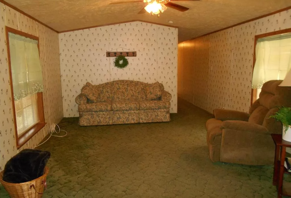 2002 immaculate single wide living room