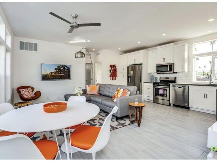2019 mid mod palm springs - dining room and kitchen