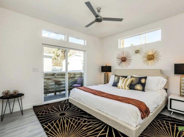 Mid-century modern mobile homes - gorgeous bedroom design 2