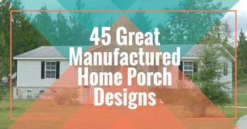 45 great mobile home porch designs