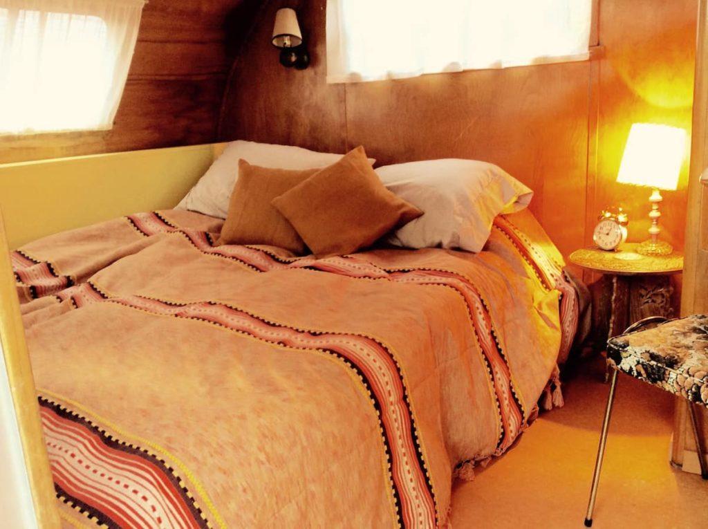 50s spartan caravan bedroom