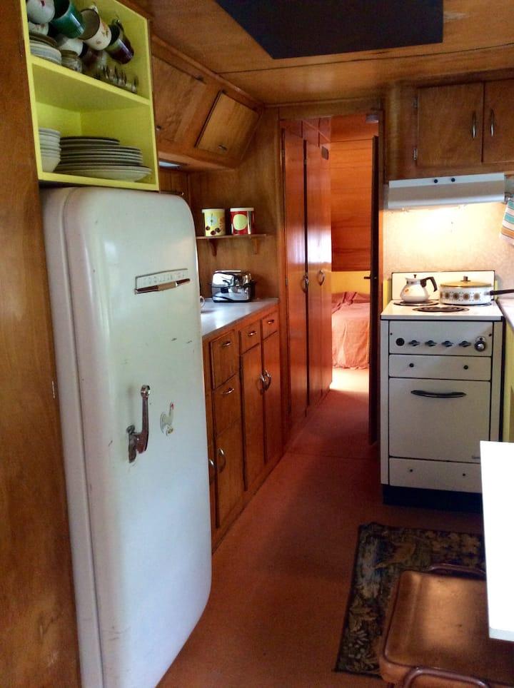 50s spartan caravan kitchen