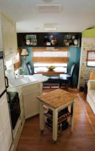 5th Wheel Camper Makeover - Kitchen and Dining Area