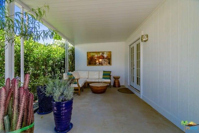 minimal modern mobile home awning
