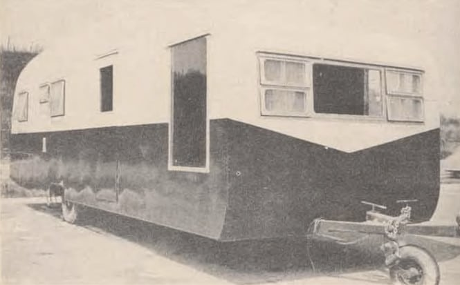 A mobile home remodel in 1954 - After metal siding