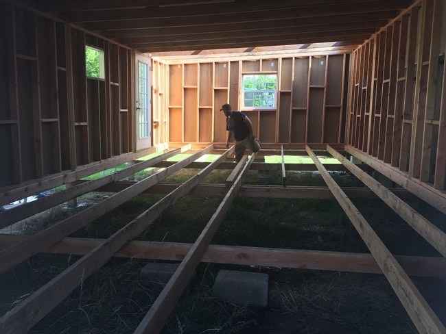 Addition being built onto 1985 Liberty single wide mobile home remodel  - framing