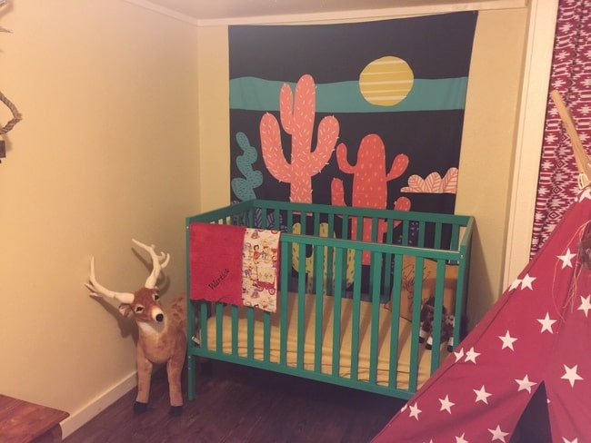 1985 liberty single wide kids bedroom after with crib