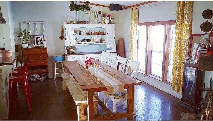Country Cottage Manufactured Home Decorating ideas- Dining Room