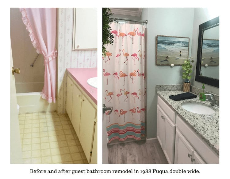 Before And After Guest Bathroom Remodel In 1988 Fuqua Double Wide.