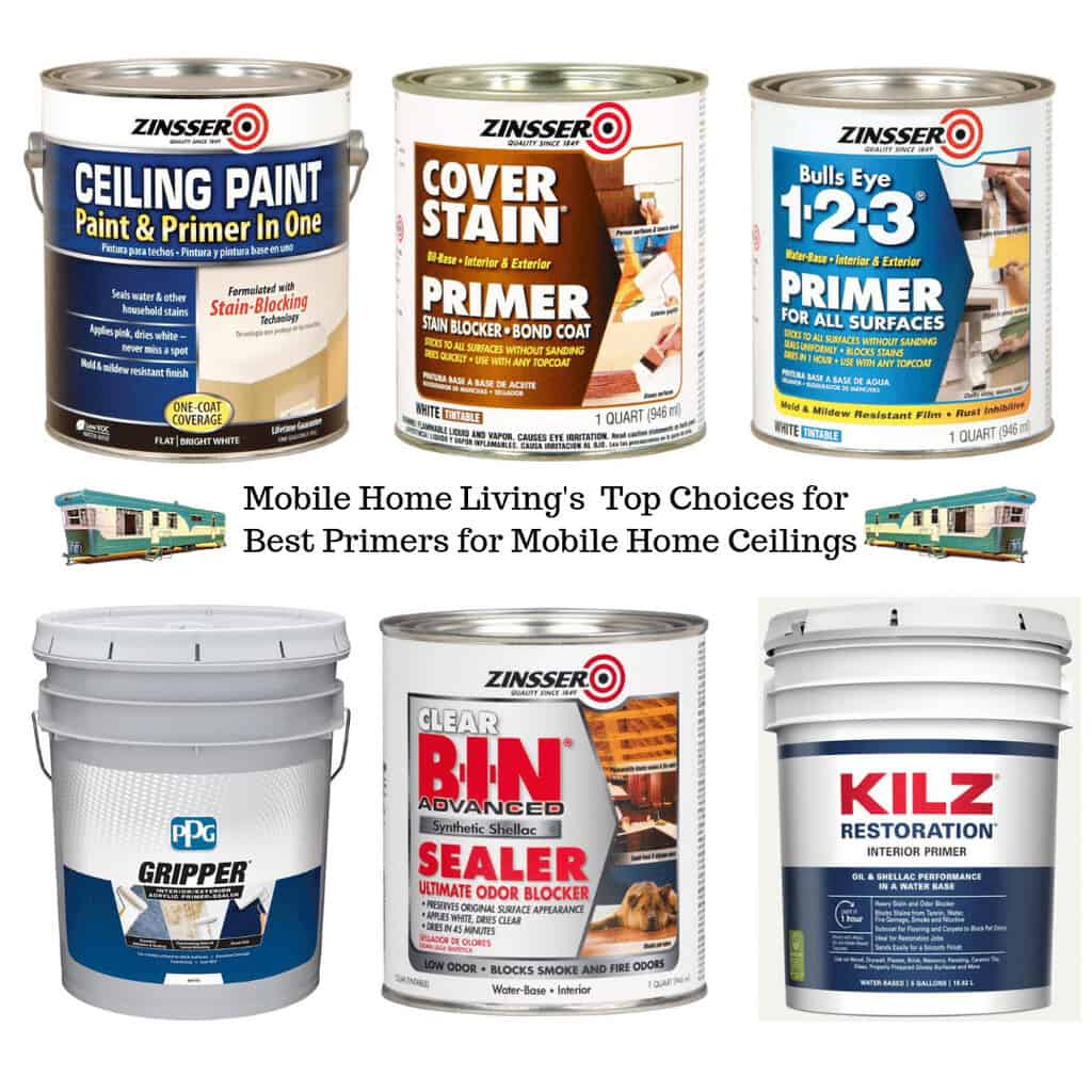 How To Paint Mobile Home Ceilings And Cover Water Stains For
