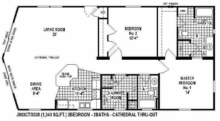 Brookstone double wide - skyline homes - floor plans