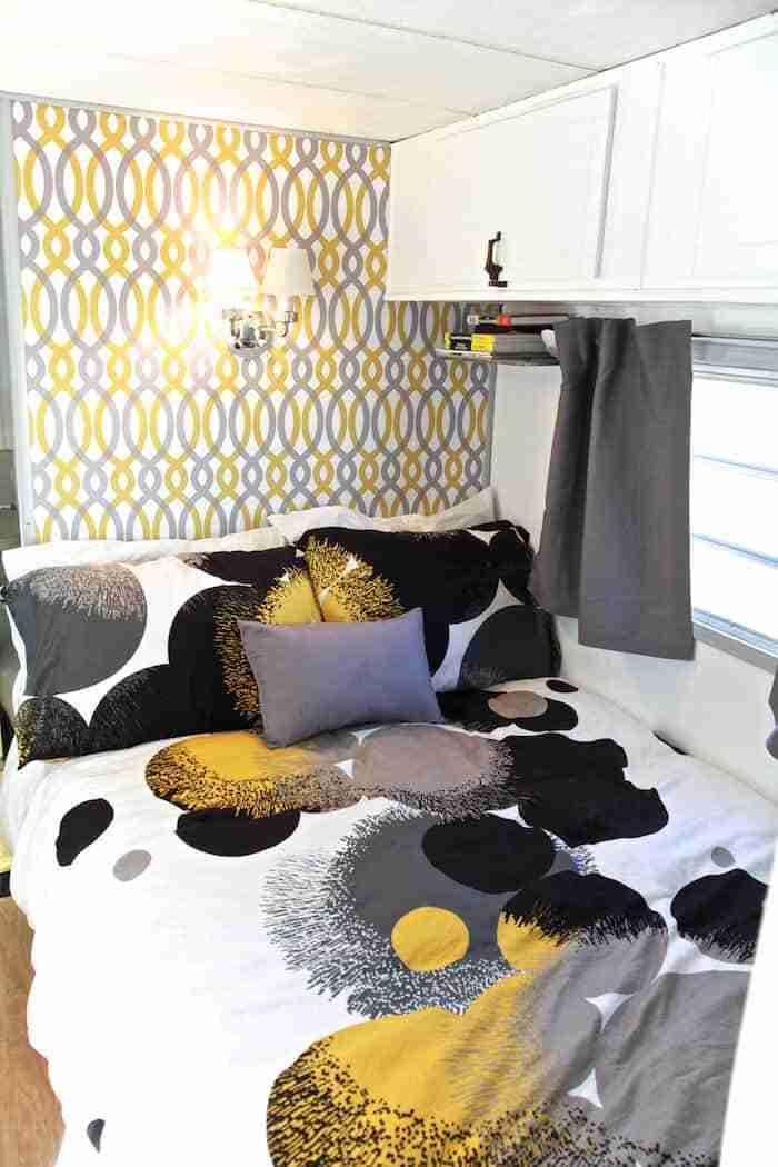 Camper Renovation - After - Bedroom