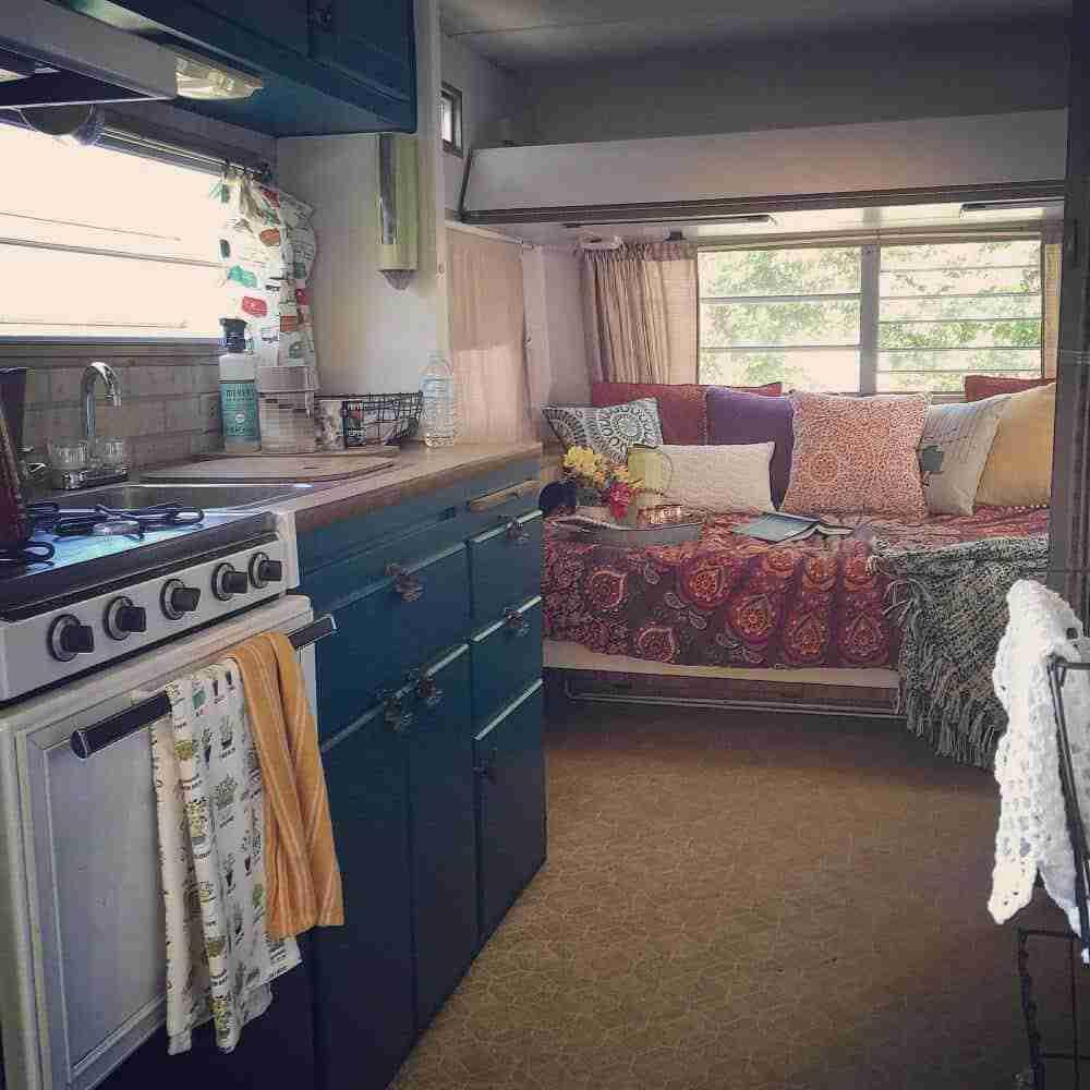 Chantal's Colorful Camper Makeover (interior)