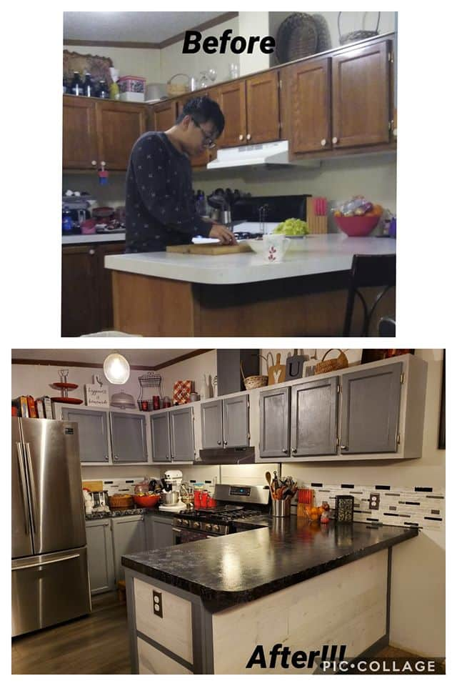 Cindi kitchen before and after