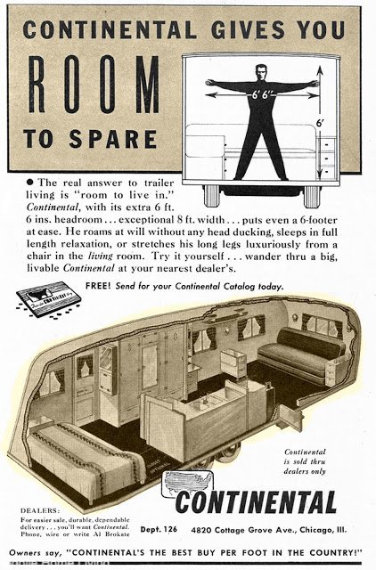 Continental Trailer Vintage Mobile Home Ads