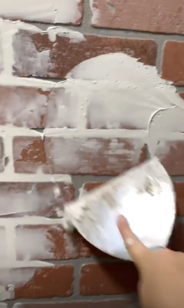 Creating farmhouse style exposed brick wall on a budget cottoncopper36