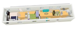 Creating Storage in a Mobile Home with a Window Seat - single wide layout