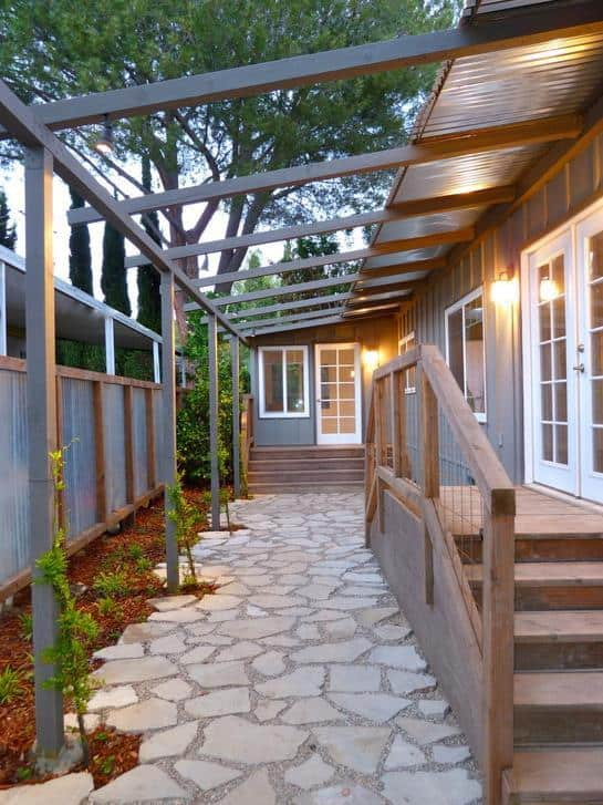 D Moore Topanga double wide  Remodel Exterior