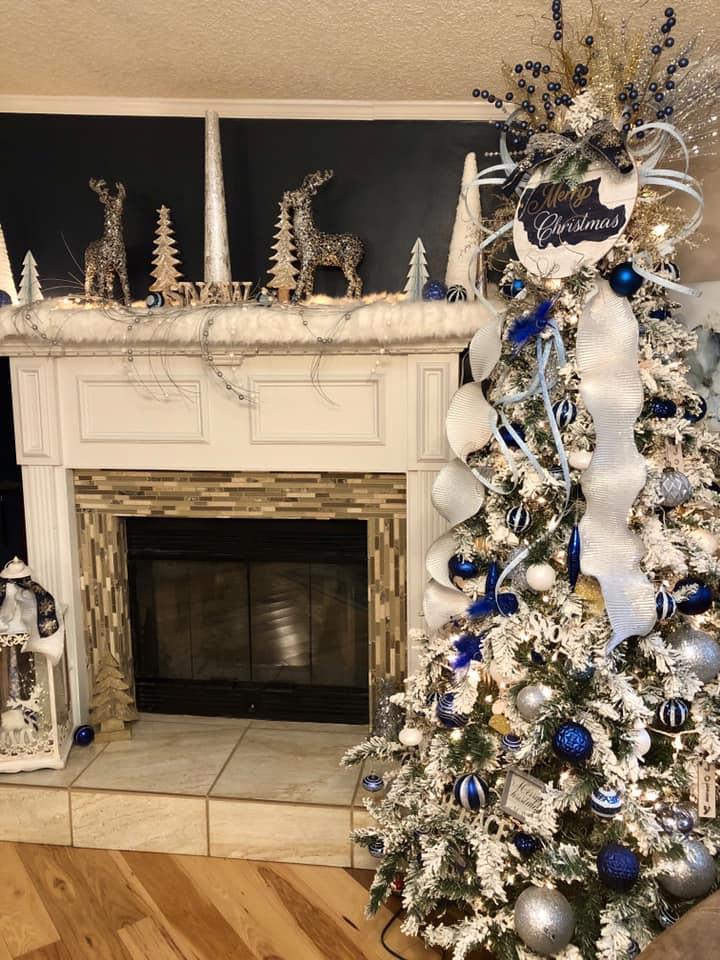 David N Donita Cantrell Christmas Tree And Fireplace
