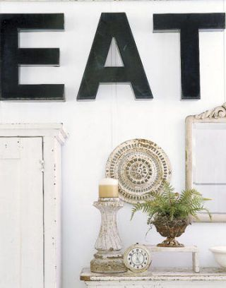 EAT Sign In Shabby Chic Kitchen