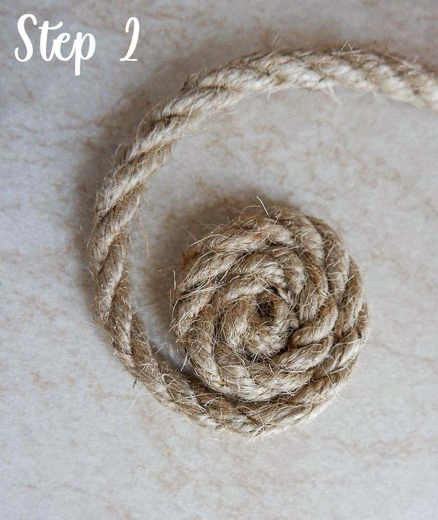 Easy rope coaster craft step by step 1