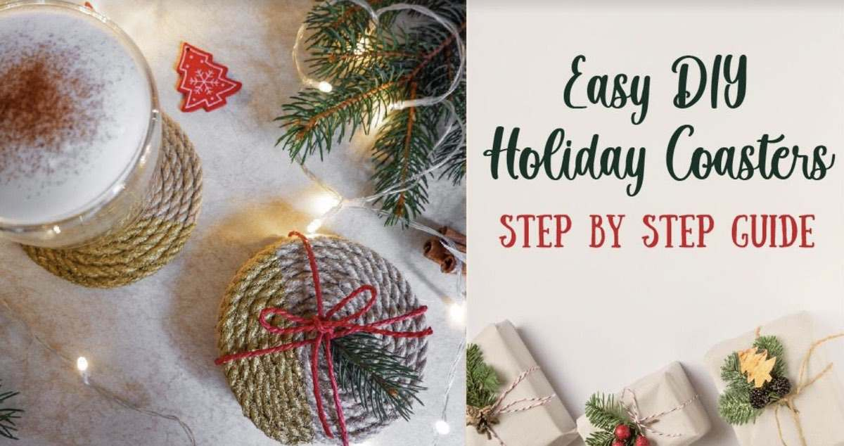 Easy rope coaster craft step by step 11